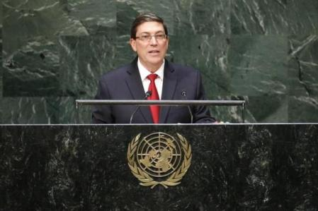 Cuba's Foreign Minister Rodriguez addresses the 69th United Nations General Assembly at the U.N. headquarters in New York